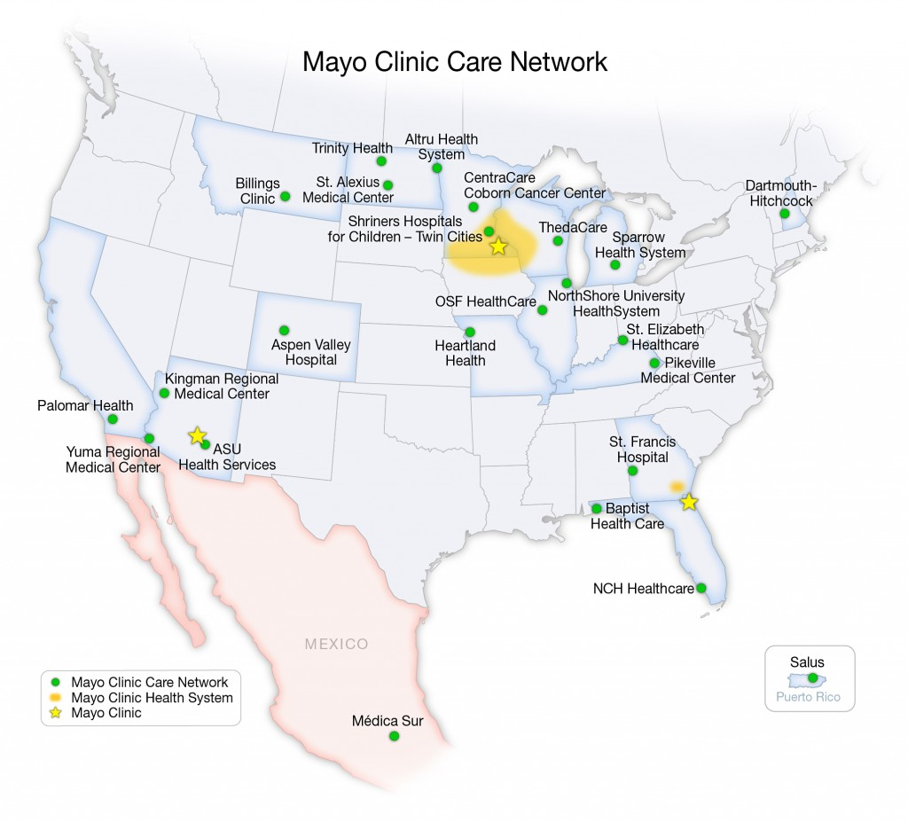 Mayo Clinic Care Network Member Map