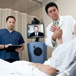 telemedicine, telestroke in Arizona with patient in hospital bed