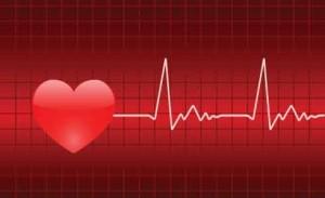Gráfico del corazón y del latido cardíaco