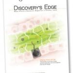 """Portada de la revista Discovery's Edge que muestra unas células y se titula """"Entender las células""""."""