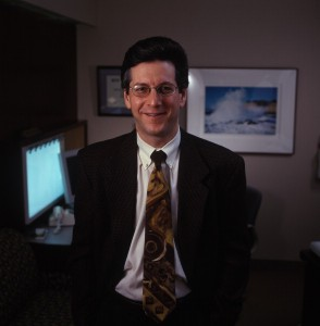 Dr. Charles Adler photographed in office setting