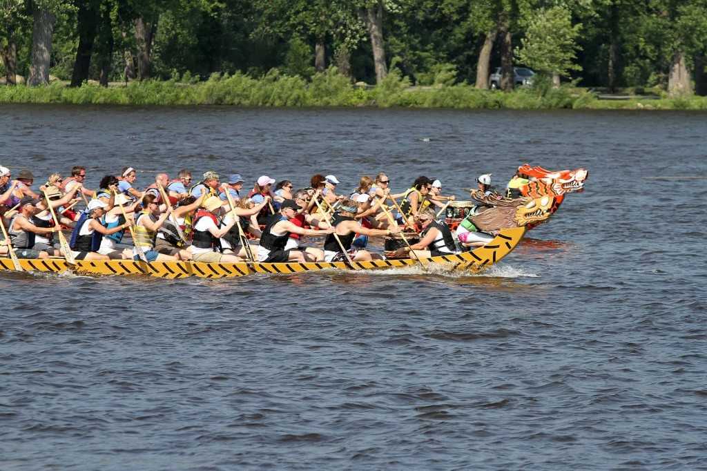 Lacrosse Dragon Boat Races- on the water