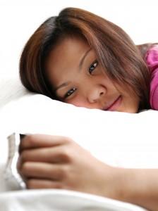sleepy woman with insomnia