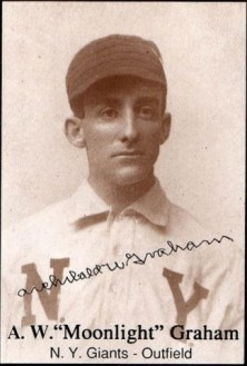 "Baseball card of A.W. ""Moonlight"" Graham, New York Giants outfielder."