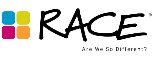 RACE - Are we So Different - white logo