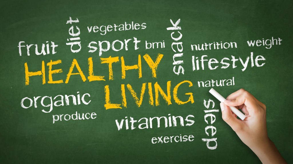 healthy living word concept