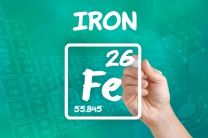 Symbol for chemical element iron