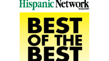Hispanic Network Magazine winner banner and best of the best sign