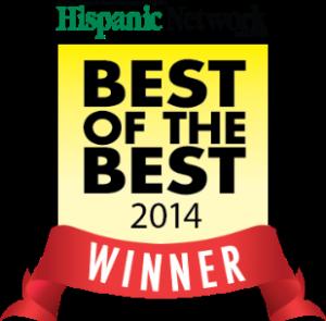 Hispanic Network Magazine winner banner and best of the best sign