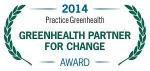 Greenhealth Practice for Change Award logo