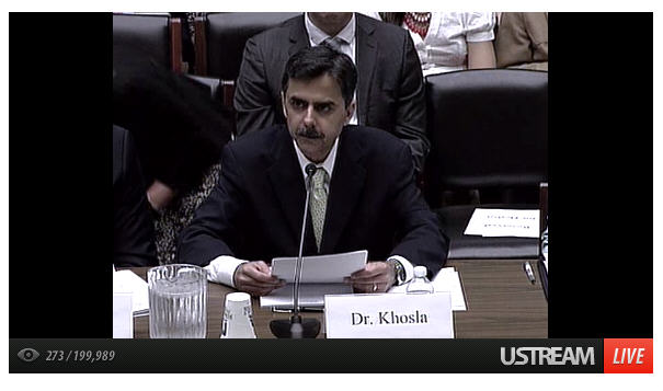 Dr. Khosla testifying on modernizing clinical trials - Capitol Hill hearing