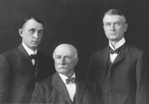 Photo of Drs. William Mayo, Charles Mayo, and William Worrall Mayo