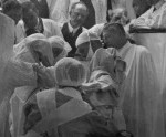 Historical photo of an early surgery performed at Mayo Clinic
