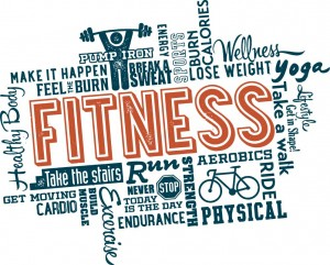 word cloud for fitness and exercise
