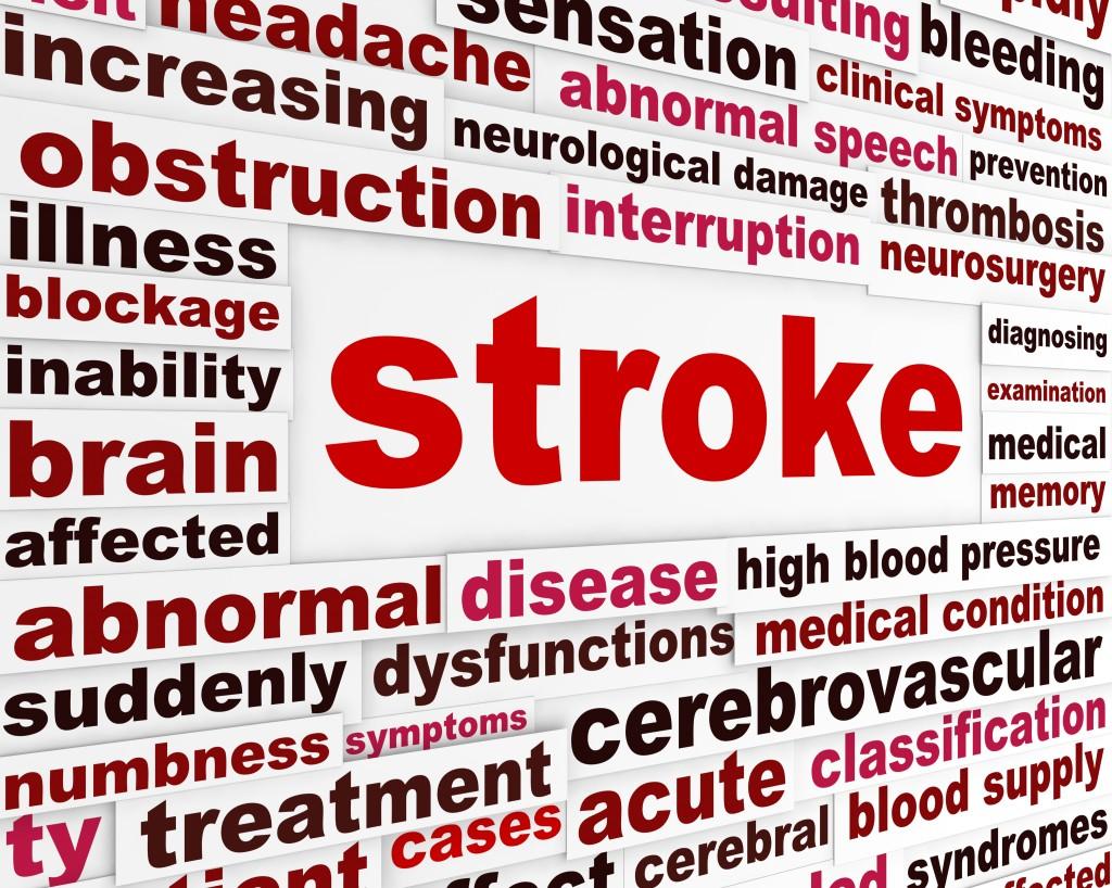 word cloud with stroke, brain, blood pressure