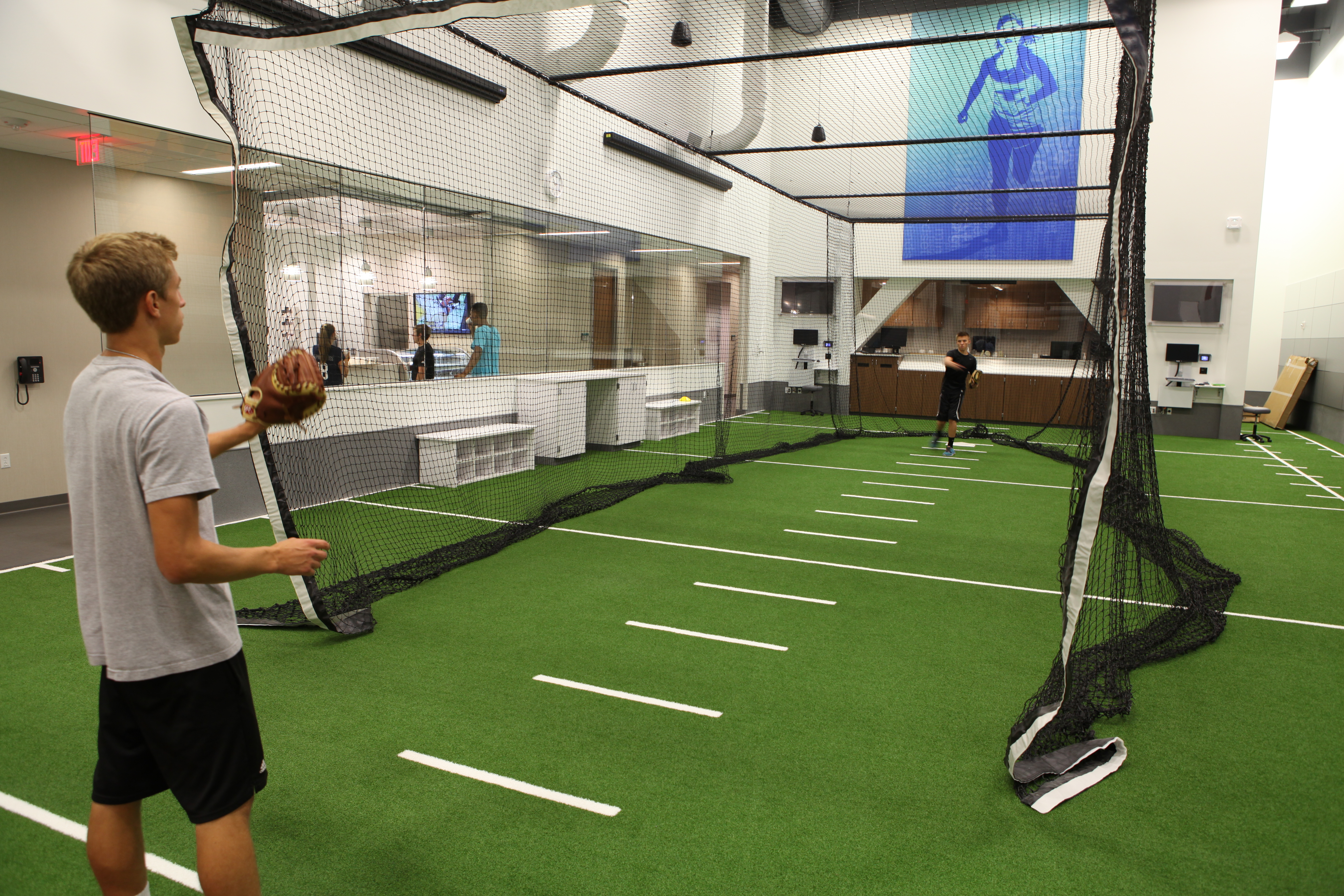 baseball pitching net sports medicine center in Minneapolis