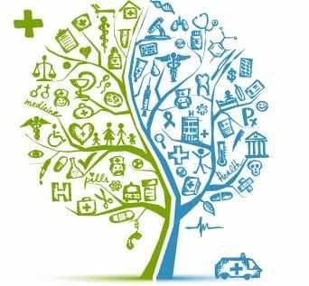 illustration of family medical tree