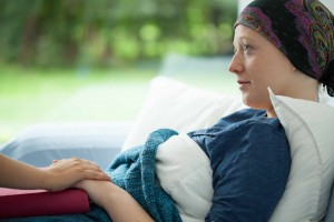 cancer survivor, woman lying in bed