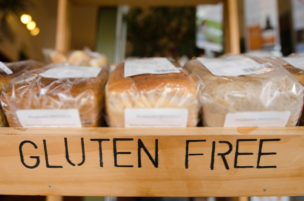 gluten free store shelf with bread