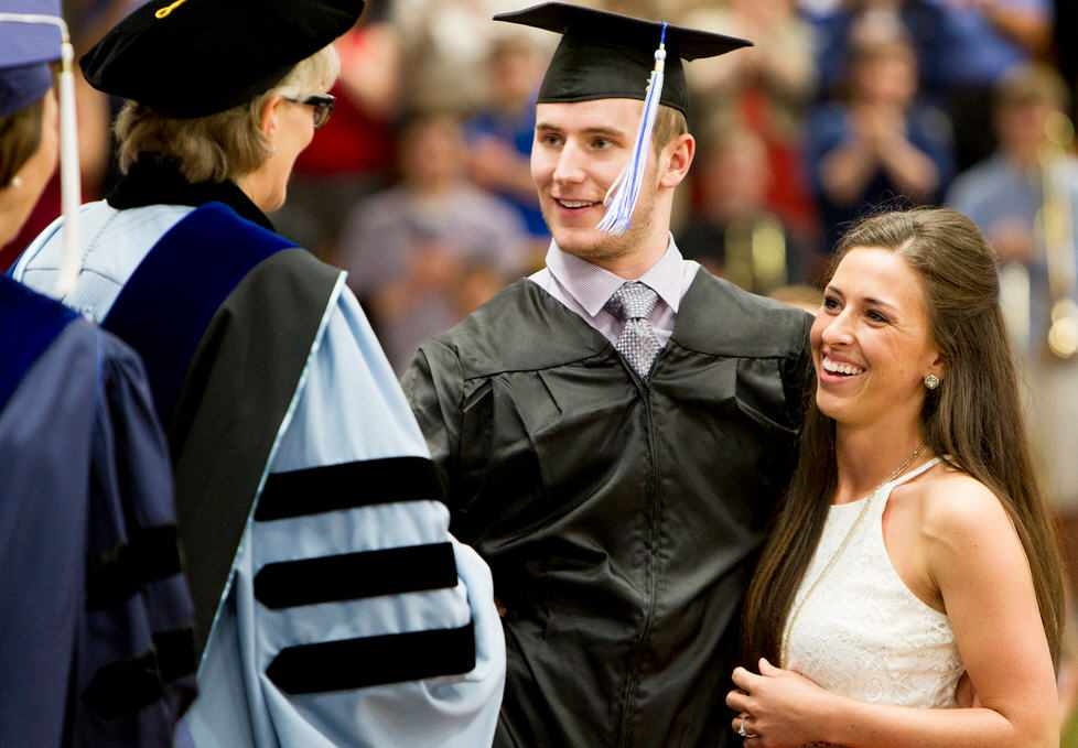 Chris Norton and fiance Emiily at Luther College Graduation