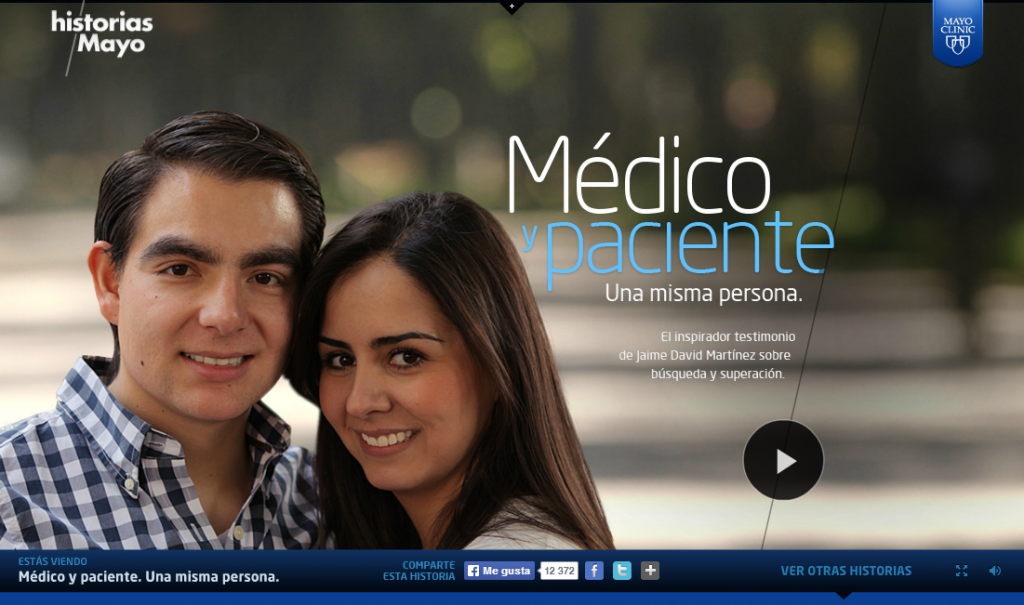 """Imagen de pantalla de las """"Historias Mayo"""""""