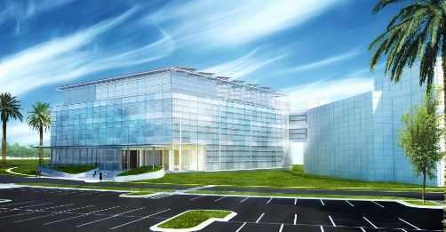 Representación gráfica del centro de restablecimiento pulmonar en la sede de Mayo Clinic en Jacksonville, Florida