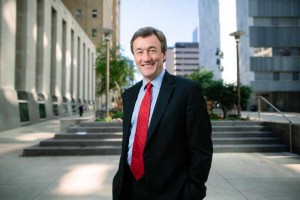 Mayo Clinic CEO & President Dr. John Noseworthy standing outside Gonda and Plummer buildings