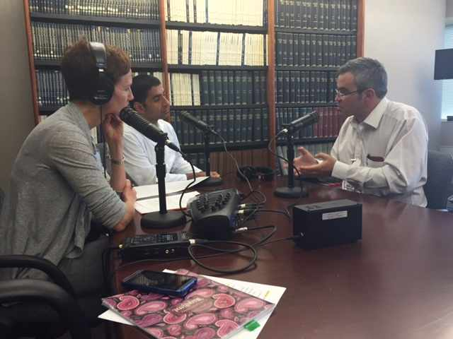 Dr. Victor Montori being interviewed on Mayo Clinic Radio
