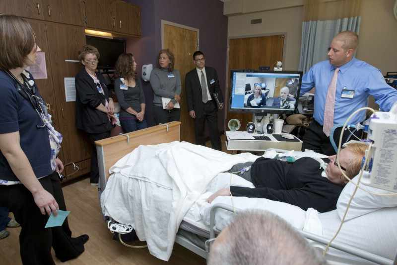 telemedicine team with patient on Jacksonville Florida campus