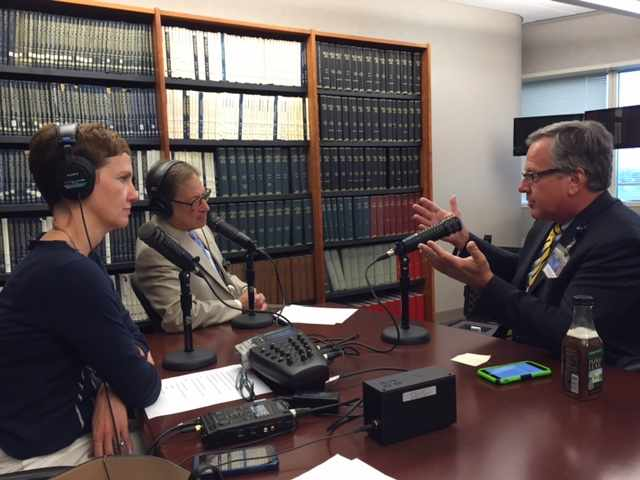 Dr. Stephen Kopecky being interviewed on Mayo Clinic Radio