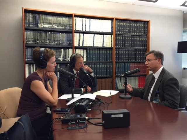 Dr. Eric Sorenson being interview for Mayo Clinic Radio