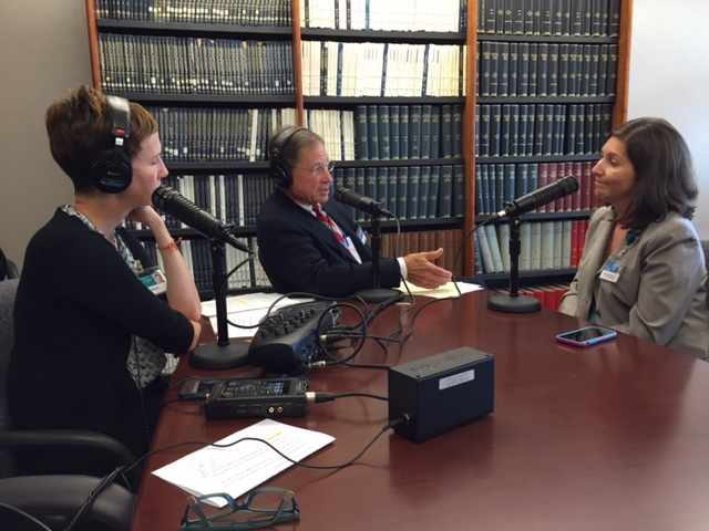 Dr. Karen Grothe being interviewed on Mayo Clinic Radio