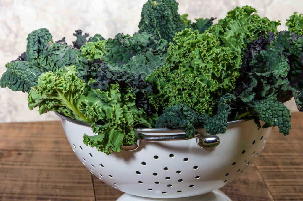 bowl of fresh kale, vegetable