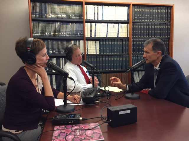 Dr. Marius Stan being interviewed on Mayo Clinic Radio