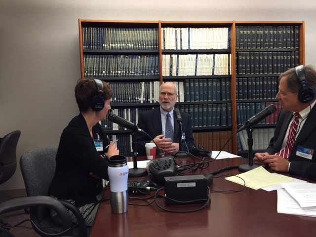 Dr. Robert Jacobson being interviewed on Mayo Clinic Radio