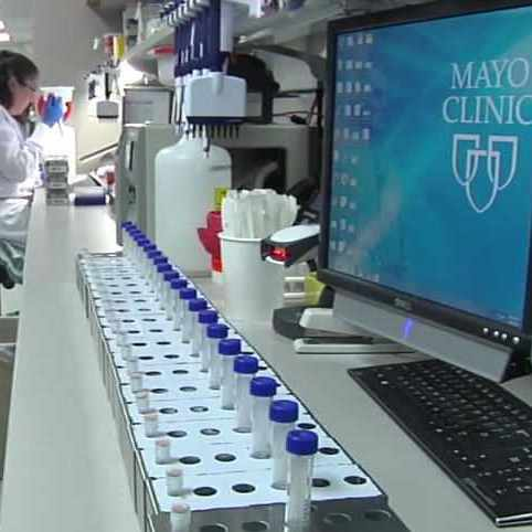woman working in Mayo Clinic biobank