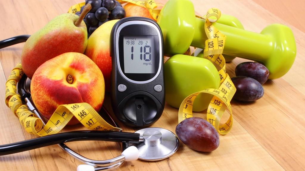 fruit surrounding blood pressure monitor