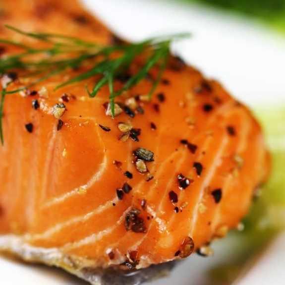 Mediterranean-style grilled salmon