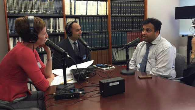 Dr. Purna Kashyap being interviewed on Mayo Clinic Radio