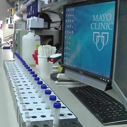 Mayo Clinic Biobank research lab, clinical trial