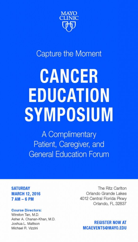 Mayo Clinic to Host its First Public Cancer Education
