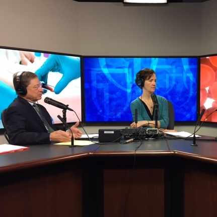 Mayo Clinic Radio hosts in studio