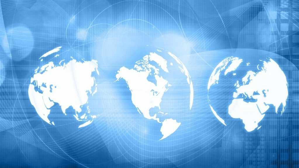 global digital image of the world, social media 16x9