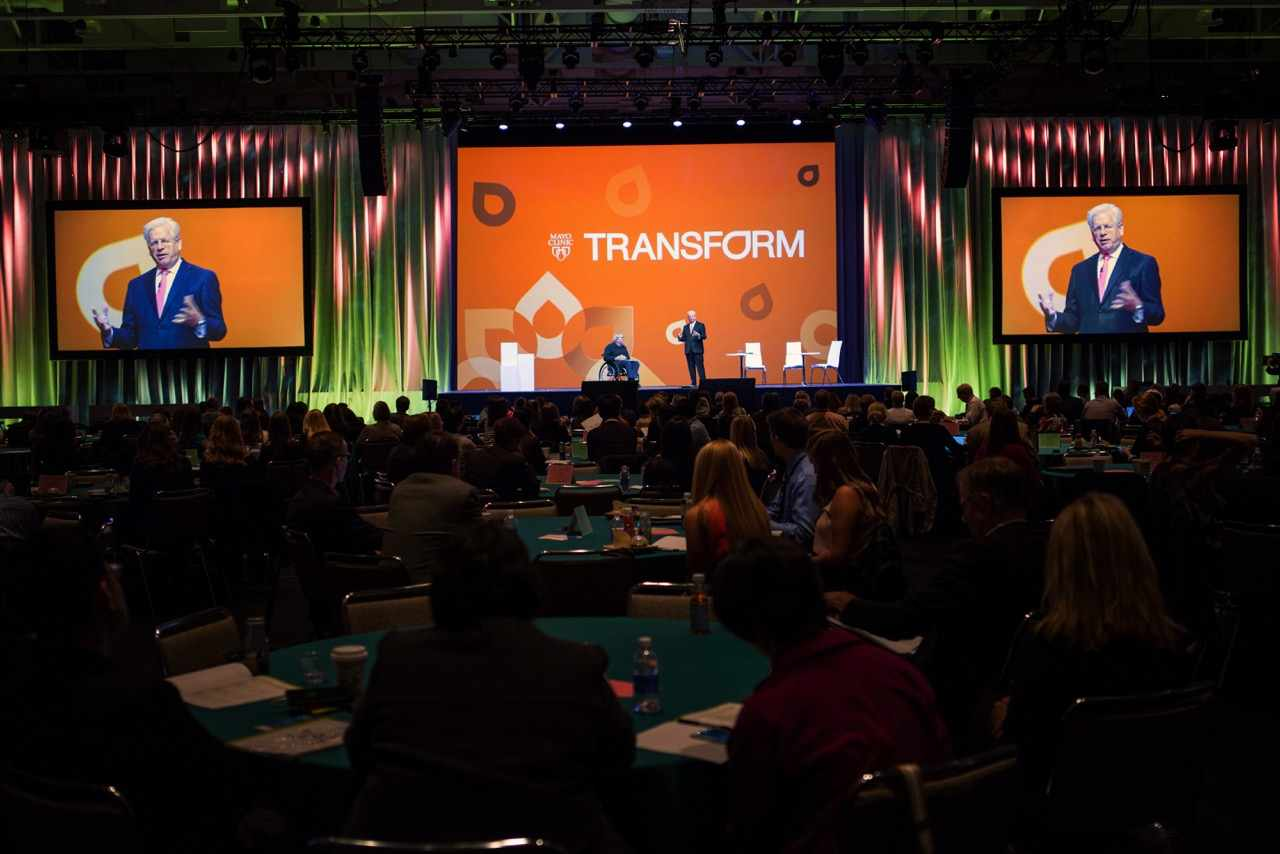 Dr. Doug Wood on main stage at Transform