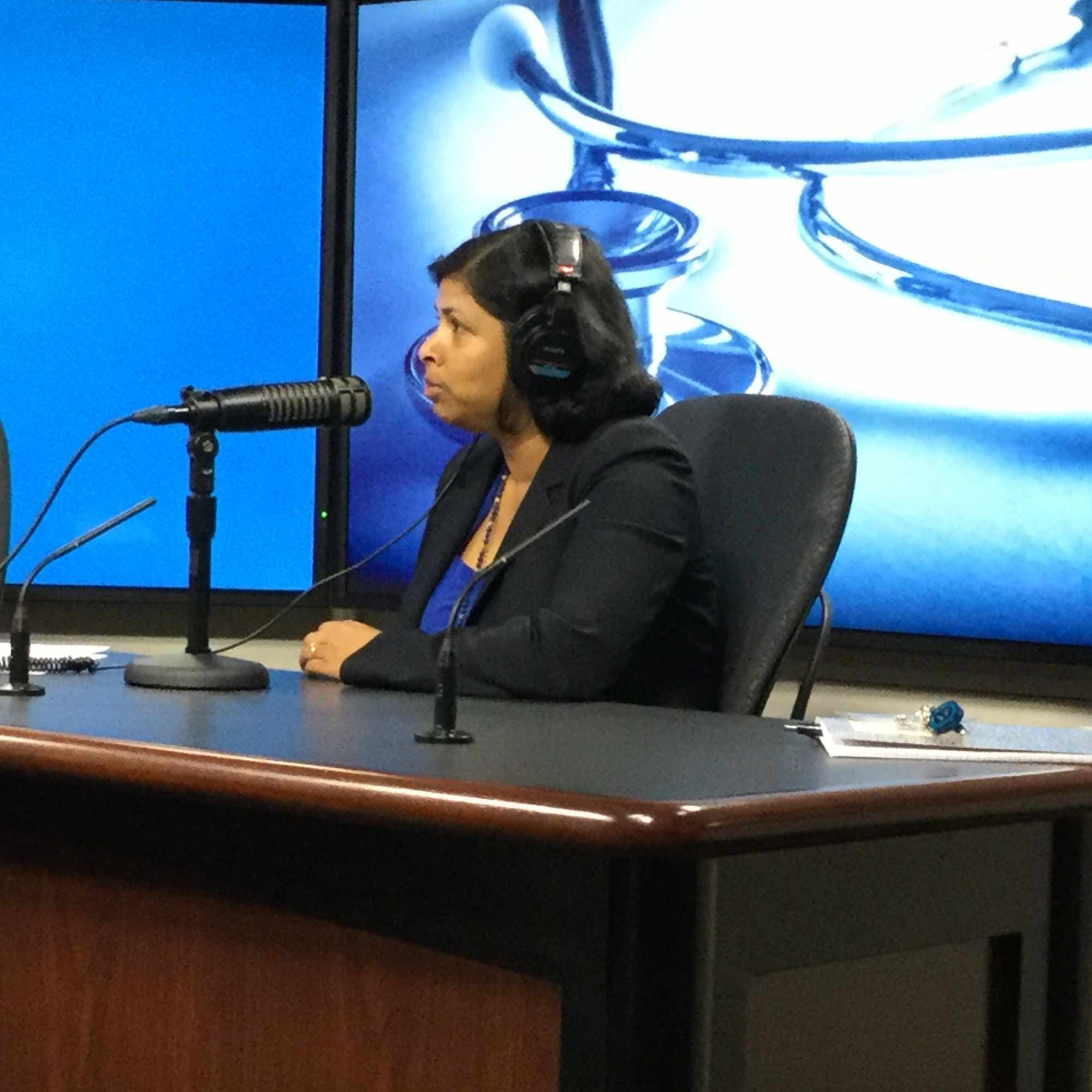 Dr. Vaidehi Chowdhary being interviewed on Mayo Clinic Radio