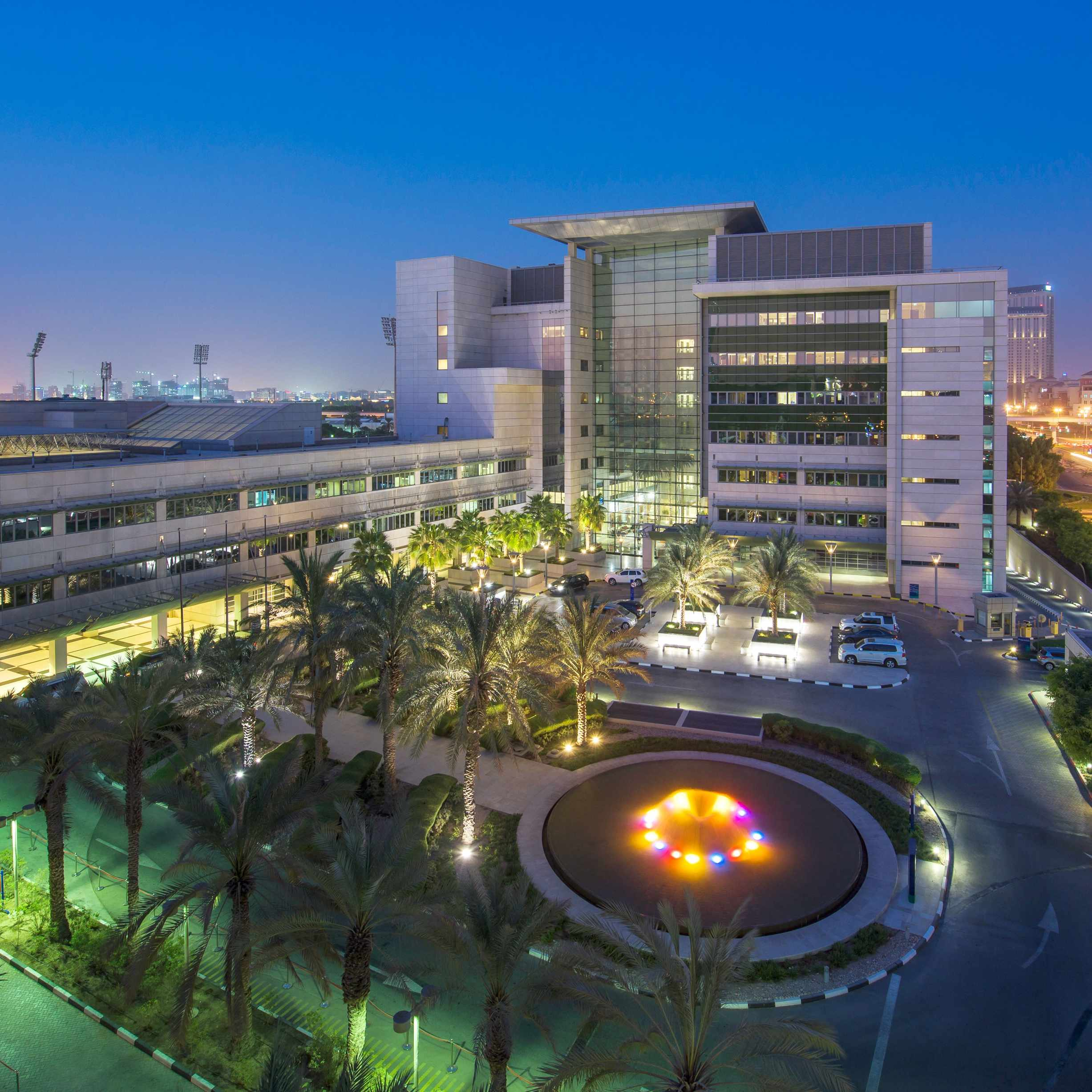 Exterior shot of American Hospital Dubai