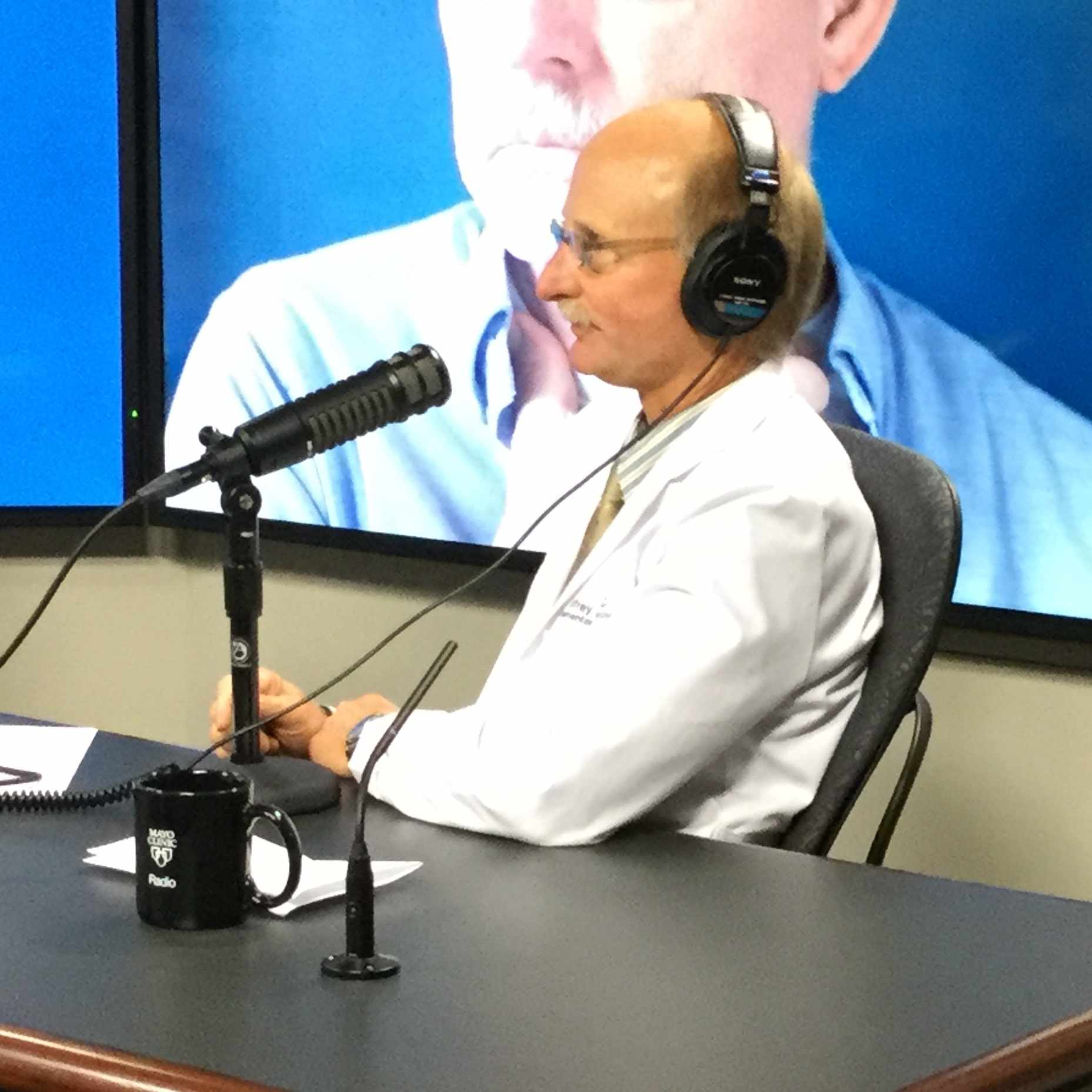 Dr. Jeffrey Alexander being interviewed on Mayo Clinic Radio