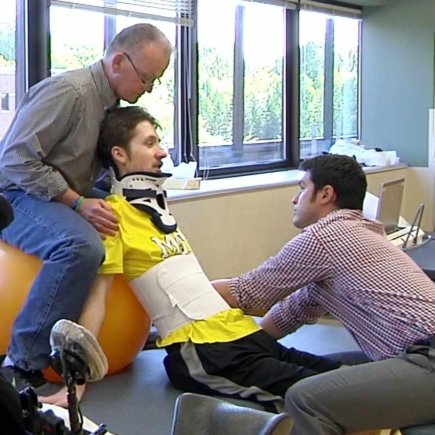 Matt Olson receiving therapy