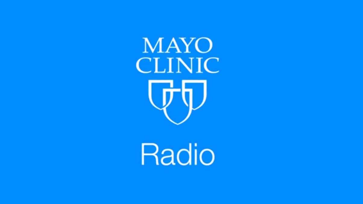 Mayo Clinic Radio logo identifier with three shields