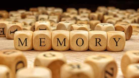 wood blocks with the word memory